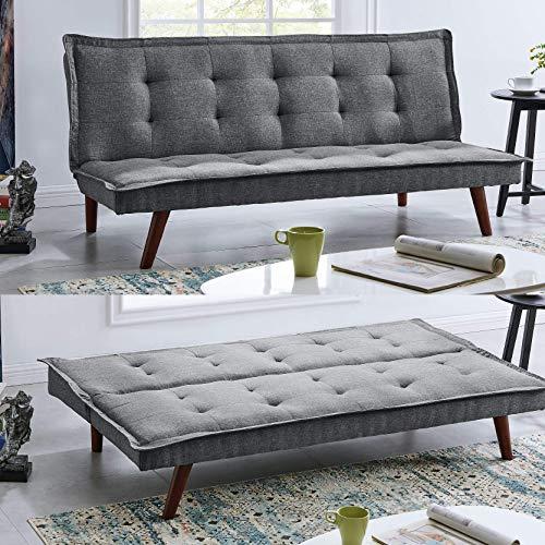 BRAVICH Modern TONI Scandinavian Grey 2/3 Seater Sofa Bed Fabric Couch...