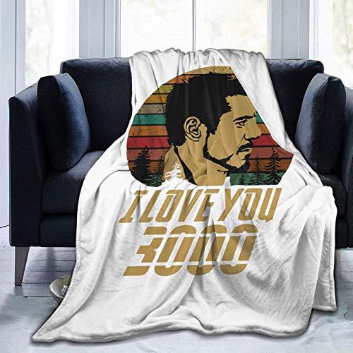 I Love You 3000 Vintage-Decken für Betten, Sofas, warme und bequeme Flanell-leichte Decken (Herren, Damen)
