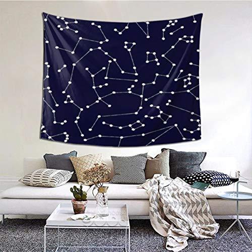 N/A Wandteppich, indischer Wandbehang, Sternbilder, Astrologie, Wissenschaft, Urlaub, Dekoration für Schlafzimmer, Wohnzimmer