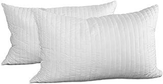 Evergreenweb – Paire de Coussins 100% Latex, oreillers à Flocon,Coussins en Latex excellents pour Les douleurs cervicales,...