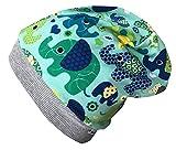 Wollhuhn - Sombrero - para niña ELEFANTEN blau / grün Medium