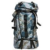 Walker Valentin Mochila Tactical IBHT 80L Bolso al Aire Libre Escalada Mochila Impermeable de los Deportes Que va de excursión Viaje Mochila 1 (Color : Blue Camouflage)