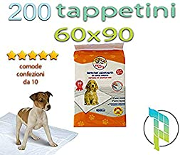 Palucart® tappetini igienici per Cane 60x90 traversine per Cani - 200 - Pezzi Animali Domestici con Adesivo Anche per Gatti Anti Odore