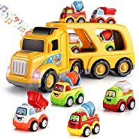 TEMI 5-in-1 Toy Vehicle in Carrier Truck