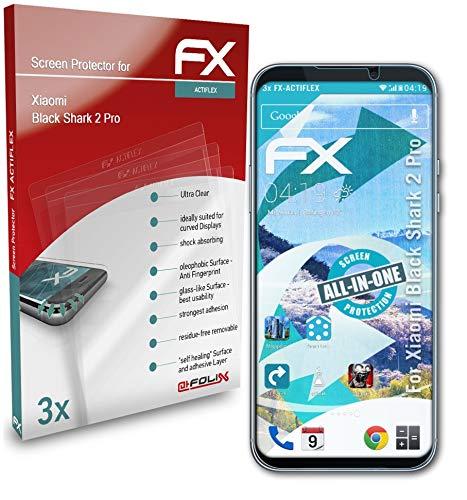 atFolix Schutzfolie kompatibel mit Xiaomi Black Shark 2 Pro Folie, ultraklare & Flexible FX Bildschirmschutzfolie (3X)