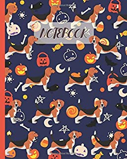 """Notebook: Cute Beagle with Halloween Theme - Lined Notebook, Diary, Track, Log & Journal - Gift Idea for Boys Girls Teens Men Women (8""""x10"""" 120 Pages)"""