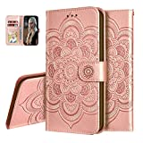 IMEIKONST Mandala Embossed Case for Honor Play 4 PU Leather
