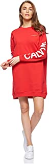 Calvin Klein Jeans-J20J209629-Women-INSTITUTIONAL LOGO DRESS-Racing Red-XL, Racing Red, Size XL