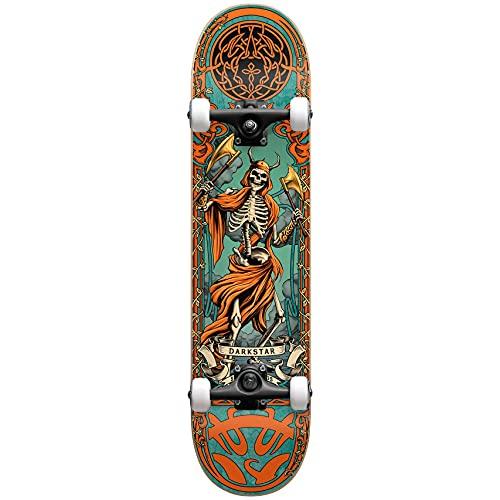 Darkstar Axe Premium Factory - Skateboard completo, 20,3 cm, colore: Arancione