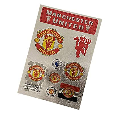 aiycome Football Club Soccer Team Emblem Sticker Waterproof Sticker for Wall, Laptop, Glass Doors, Car,etc (Manchester United, 7.5 x10.6 in)