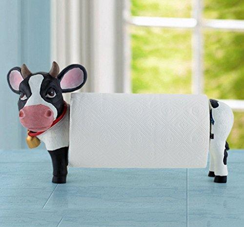CESULIS Creativo Vertical Inodoro Vaca Restaurante Roll Holder Soporte de papel higiénico Organizadores/Bastidores