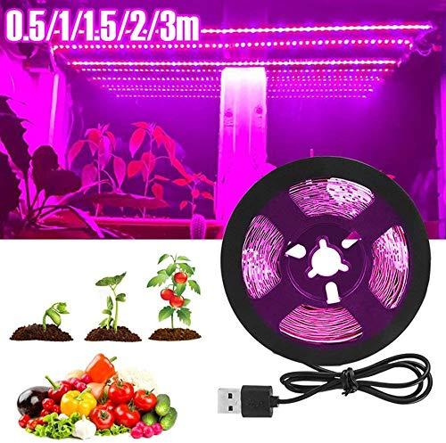UNIVIEW Full Spectrum LED Betriebslichter, 2835 SMD wasserdichte USB 5V LED Plant Growth-Streifen Licht for Gewächshaus hydroponischen Pflanze wachsen (Color : 3m)