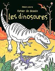 Cahier de dessin - les dinosaures