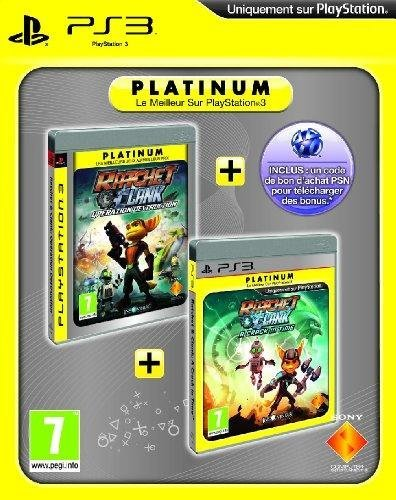 Ratchet & Clank : a crack in time - platinum + Ratchet & Clank : tools of destruction - platinum + code bonus PSN