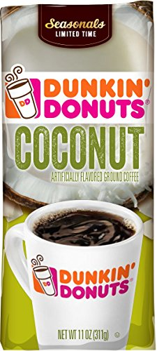 Dunkin' Donuts Coconut Flavored Ground Coffee, 11 Ounces
