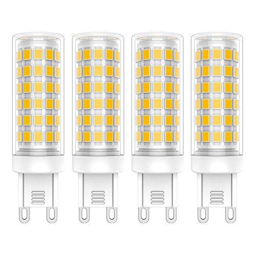 4X G9 Lampadine LED 9W LED Lampadina Bianco Caldo 3000K 76 SMD 2835LEDs Super Luminosa 700LM Luce Lampada 360 Gradi Angolo a Fascio AC220-240V