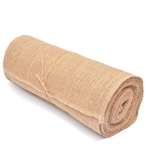 """Tosnail 10 Yard Long 12"""" Wide Natural Burlap Fabric Roll for Craft Projects, Home Decor, Wedding Decor"""
