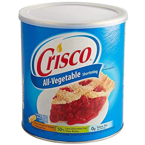 Crisco, All Vegetable Shortening, Original, 48oz Container (Pack of 2)