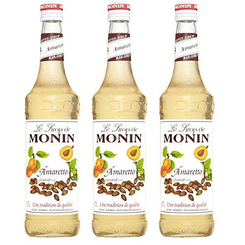 Monin Sirup Amaretto, 0,7L 3er Pack