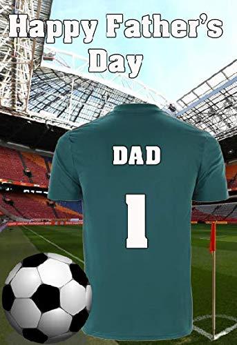 pnc130 Ajax Away Happy Father's Day Card A5 Gepersonaliseerde Groeten Kaarten Geplaatst door US Gifts for All 2016 uit Derbyshire UK