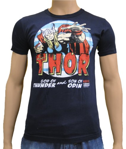 T-shirt Thor Comic avec imprimé Marvel culte style viking - Bleu - Bleu - Medium