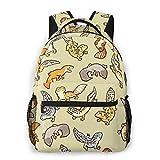 Cartoon Cute Leopard Gecko School College Casual Hiking Laptop Backpack Travel Book Bag