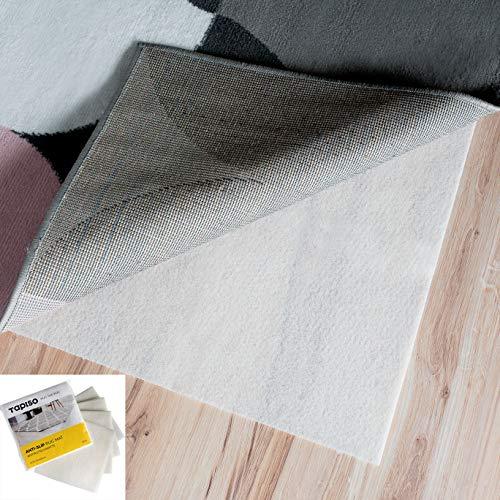 Tapiso Base Antideslizante Almohadilla para Alfombras Protección Blanca Fina Cortable Lavable 4 Piezas 50 x 50 cm