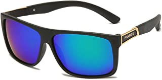 FJCY - Gafas de Sol polarizadas cuadradas, retráctiles, para Conducir, de Goma, cuadradas, Gafas de Sol para Hombres Famosos, Gafas de Sol polarizadas para Damas, hombres-Kmj812-C3