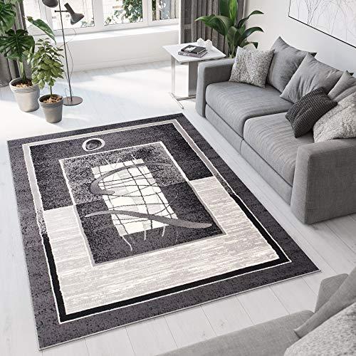 Tapiso Designer Teppich Wohnzimmer Teppich SCHÖN Muster IN GRAU BEIGE Hellgrau (160x230 cm)