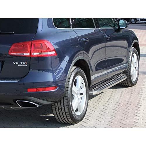 Trittbretter passend für VW Touareg ab Baujahr 2002-2018 Model Hitit in Chrom mit TÜV und ABE