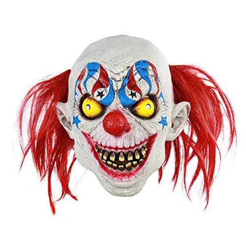 Halloween Masker Circus Clown griezelige Scary Halloween Cosplay Voor Volwassenen Party Decoratie Props, 20×29CM, clown
