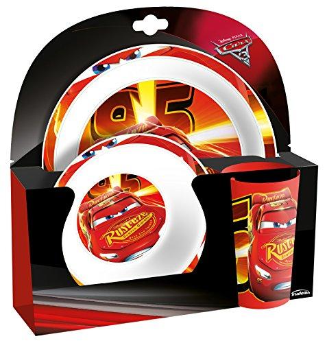 Kids Vajilla Diseño Cars, Melamina, Rojo, 8.0x25.0x26.0 cm
