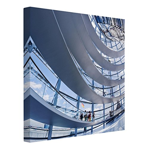 Leinwandbild - Im Berliner Reichstag - Quadrat 1:1, 30cm x 30cm