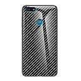 Grandcaser Motorola Moto E6 Play Étui,Ultra-Mince Advanced Fibre Carbone Texture Gradient Glass Box...