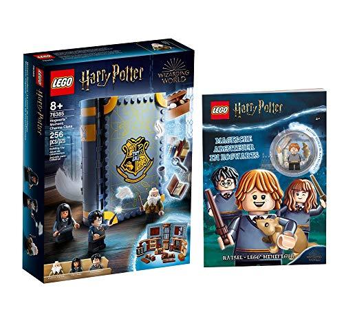 Collectix Lego Set – Lego Harry Potter Hogwarts Moment lezioni di magia (76385) + magiche avventure in Hogwarts (copertura morbida), set regalo a partire dagli 8 anni