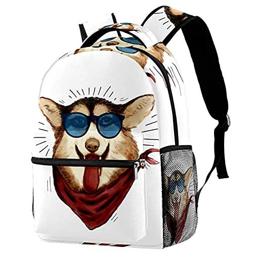 Leisure Campus - Mochilas de viaje para perro con gafas de sol, 01 bolsas con soporte para botella para niñas y niños
