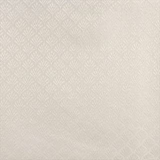 Designer Fabrics B656 54 in. Wide Off White44; Fan Jacquard Woven Upholstery Fabric