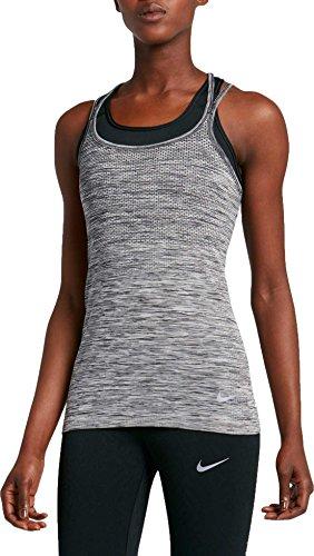 Nike Damen Dri-FIT Knit Tanktop, Black/Heather, M