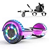 COLORWAY Hoverboard 6.5 inch Elettrico Bluetooth Scooter con Bluetooth & LED Auto Balance E-Skateboard