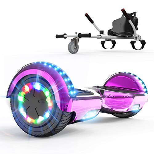 COLORWAY Hoverboard SUV, Gyropode 700W Self-Balance avec Bluetooth&LED, Scooter Electrique Auto-équilibrage (Gris)