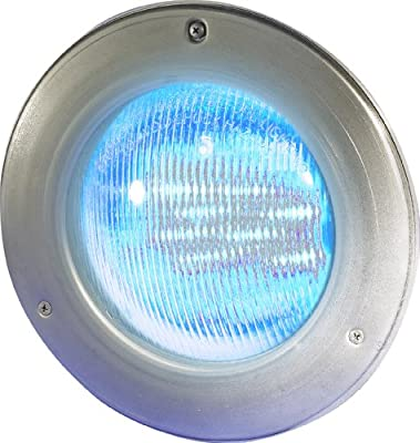 Hayward W3SP0527SLED100 ColorLogic 4.0 LED Pool Light, 120-Volt, Stainless Steel Face Rim, 100-Foot Cord
