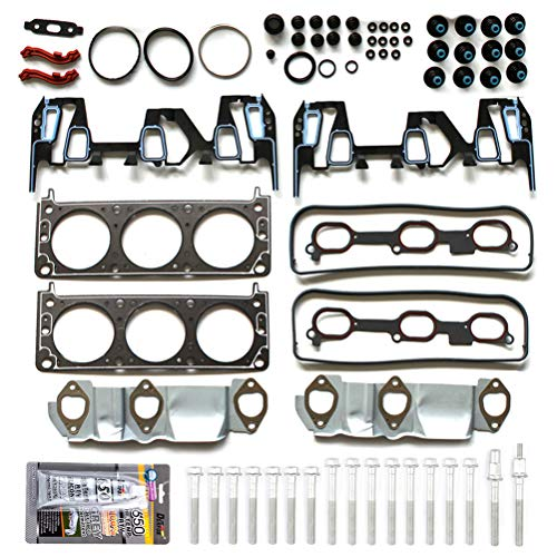 ROADFAR Cylinder Head Gasket Set with Bolts for Chevrolet Equinox 3.4L 2005-2009