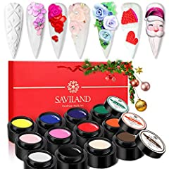 【BEAUTIFUL SCULPTURE SET】 12 different colors of 3D Sculpting gel can meet your various creative needs. The 3D sculpting gel set is very suitable for beginners, professional nail artists, nail lovers, families, nail salons, nail schools, etc. 【HIGH Q...