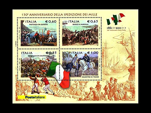 LaVecchiaScatola 2010 Italia Repubblica spedizione dei Mille Foglietto MNH/**