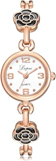 Wristband Women's Wrist Watches Ladies Series Girls Watch Female for Women Rose Lady Bracelet Watch,Colour Name:Silver Bla...