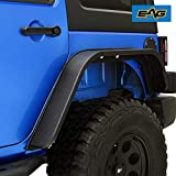EAG Rear Fender Flares Steel Edge 2PCS Fit for 07-18 Wrangler JK