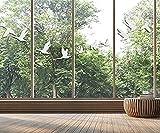Pegatinas anticolisión para ventanas y pájaros, siluetas transparentes de ganso salvaje,...