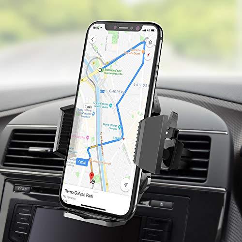 Beikell Soporte Movil Coche, 360 Grados Rotación Soporte Móvil Teléfono Coche Magnético para Rejillas del Aire Soporte para iPhone X/8/7, Huawei P9, Samsung Galaxy S8/ S7 Plus, GPS, MP3 Player y Más