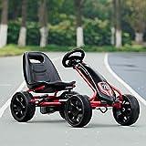 Alek…Shop Enjoy Play Fun Go Kart, Black Kids Ride On Toys Comfortable Pedal Powered Ages 3-8 Year Exercise Pedaling Safety Handbrake Helps Stop
