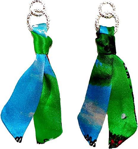 Cinta de seda – Pendientes. Pendientes de diseño de la artista Helen...